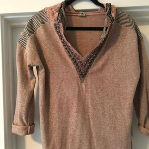 BKE Gimmicks mauve long sleeve top